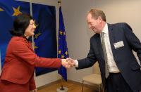 Visite deMartin McTague, directeur poitique de la Fédération britannique des petites entreprises (FSB) à la CE