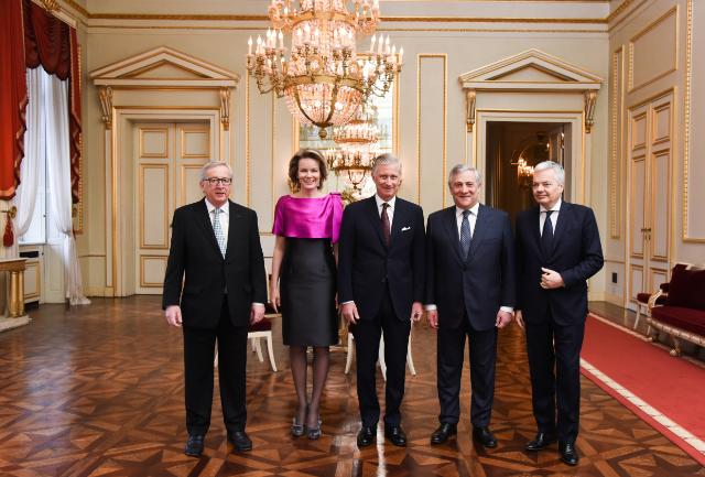 Presentation of New Year's greetings of the Juncker Commission to Philippe, King of the Belgians