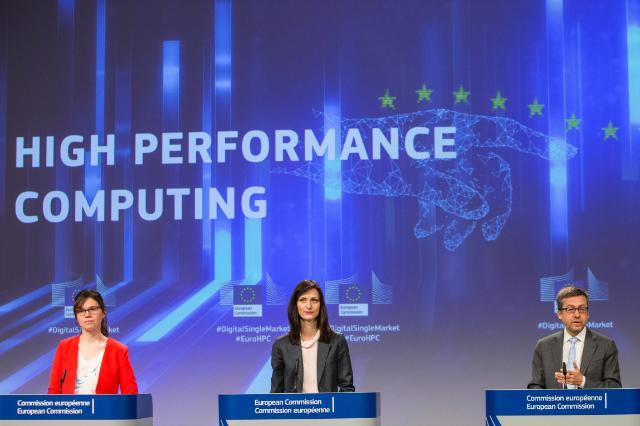 Press conference by Carlos Moedas and Mariya Gabriel, Members of the EC, on High Performance Computing