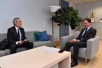 Visite de Frédéric Saint-Geours, président du Conseil de Surveillance de la SNCF, à la CE