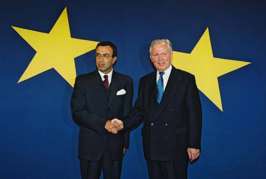 Visit of Petar Stoyanov, President of Bulgaria, à la CE