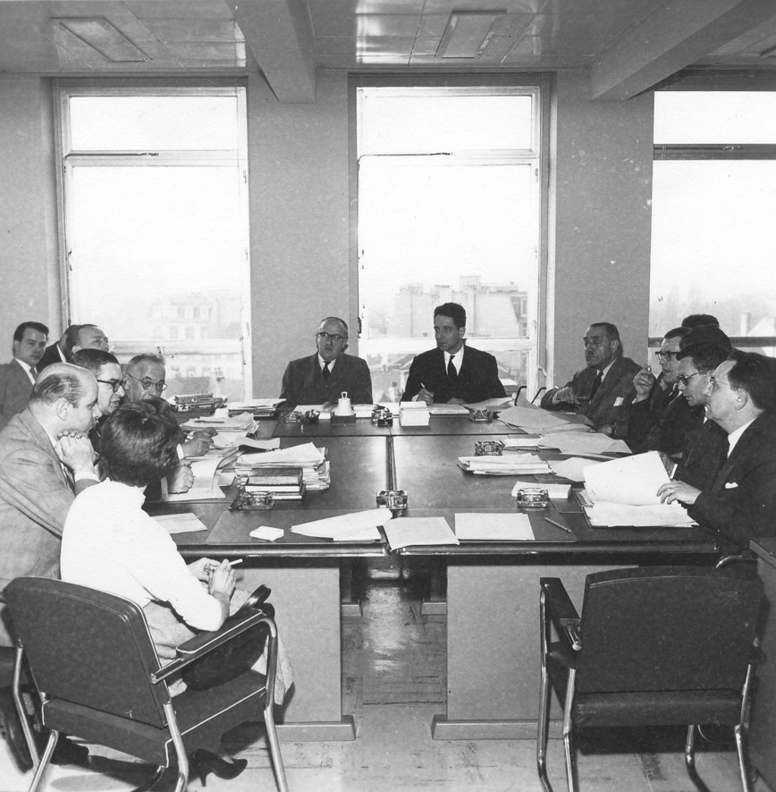 Meeting of the Commission of the EEC under the presidency of Walter Hallstein