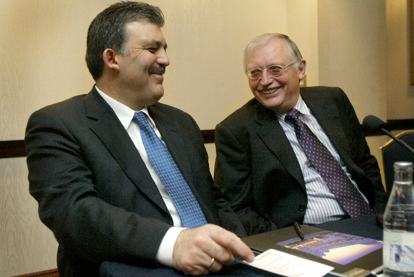 Meeting between Abdullah Gül, Turkish Minister for Foreign Affairs, and Günter Verheugen, Member of the EC