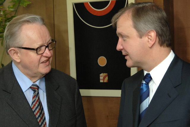Visit by Martti Ahtisaari, Special Envoy of the UN Secretary General for future status process for Kosovo, to the EC