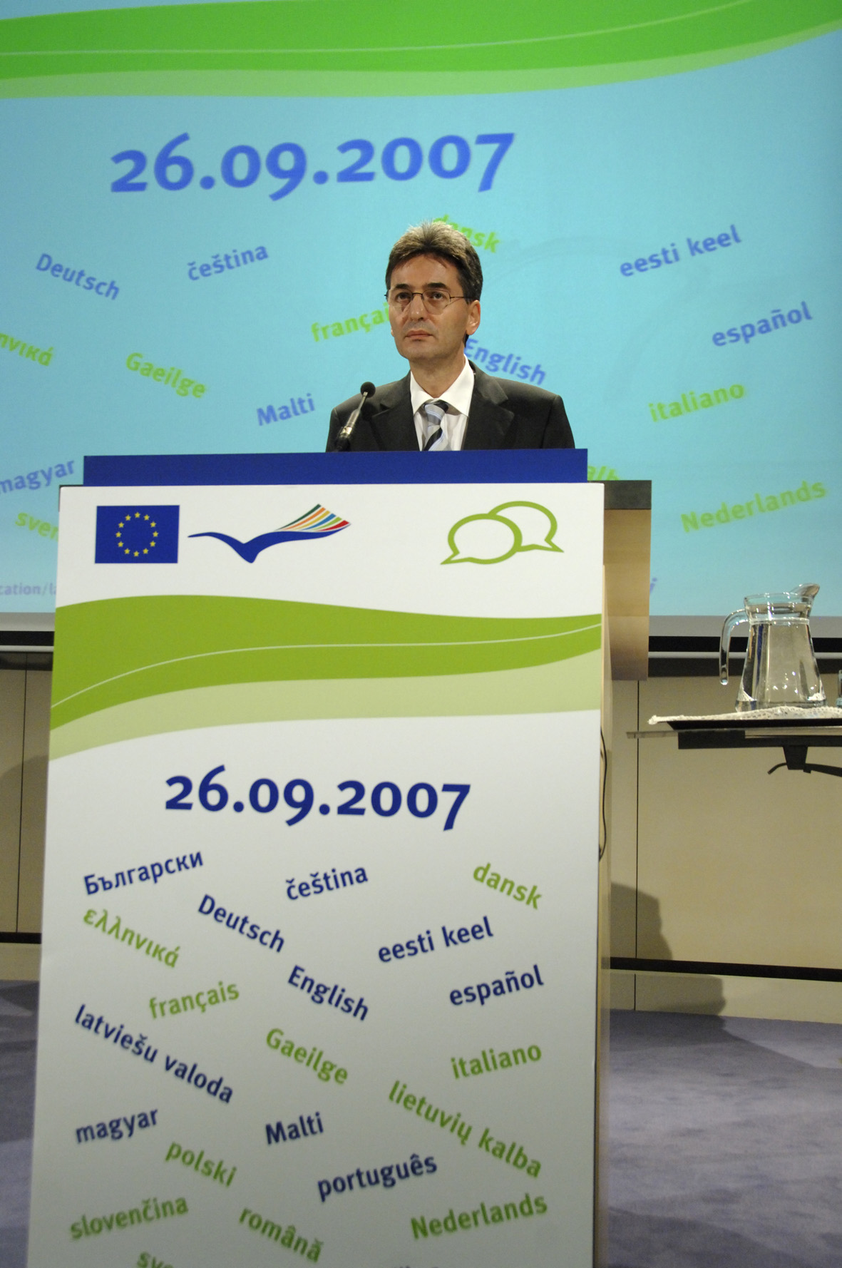 Press conference by Leonard Orban, Member of the EC, on the European Day of Languages