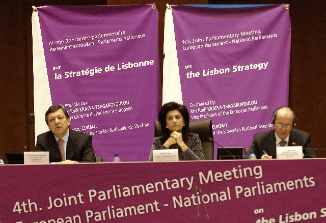 Participation of José Manuel Barroso in the joint parliamentary meeting on the Lisbon Strategy