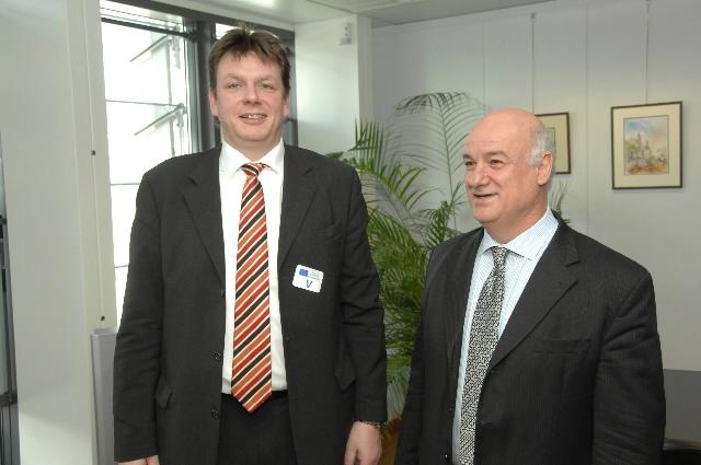 Visite de Peter Dill, président de Deutsche See, à la CE