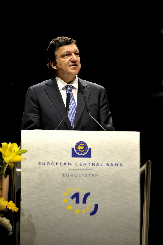 Participation of José Manuel Barroso, President of the EC, in the 10th anniversary of the ECB