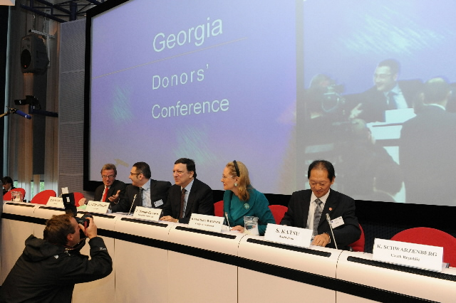 Participation of José Manuel Barroso, President of the EC, in the Conference of donors for Georgia