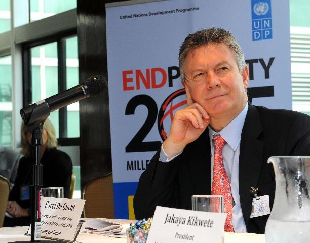 Participation de Karel De Gucht, membre de la CE, à la réunion de l'UNDP sur le projet international OMD