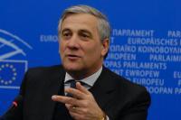 Conférence de presse d'Antonio Tajani, vice-président de la CE, sur les droits des passagers aériens