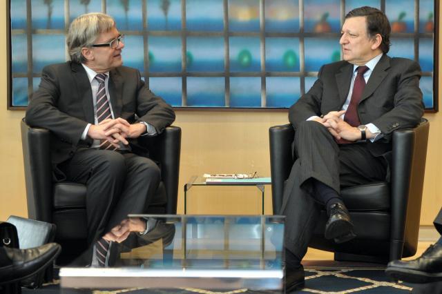 Visite de Wolfgang Eder, président d'Eurofer, à la CE