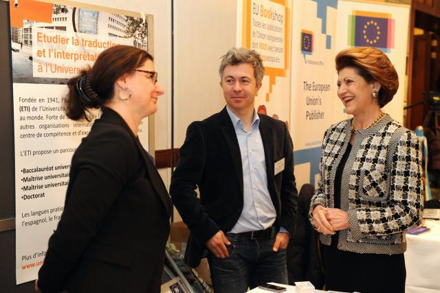 Participation of Androulla Vassiliou, Member of the EC, at the EU Studies Fair