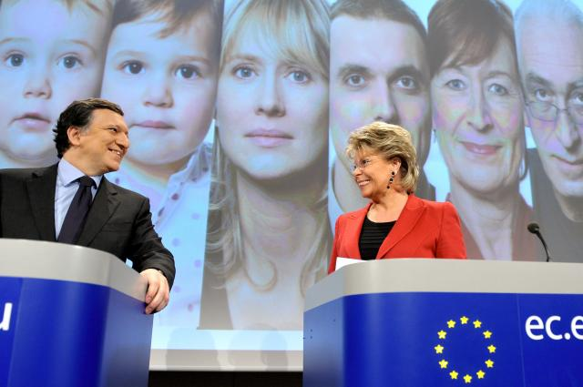 Press conference by José Manuel Barroso and Viviane Reding on the Women's Charter