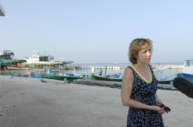 Visite de Connie Hedegaard, membre de la CE, aux Maldives