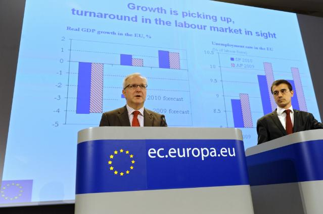 Press conference by Olli Rehn, Member of the EC, on the spring economic forecasts