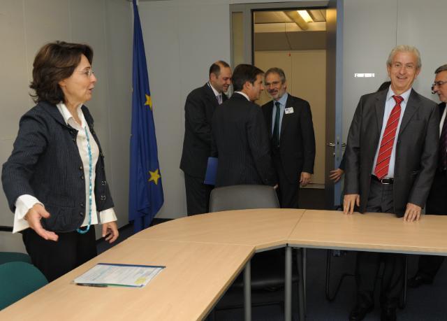 Visite de Théodore Veniamis, président de l'Union des armateurs grecs, à la CE