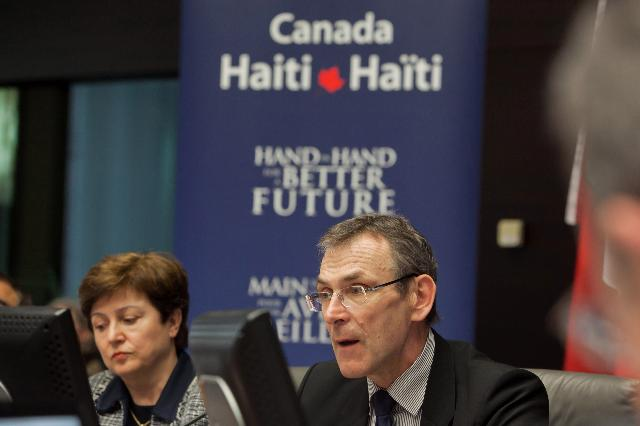 Participation of Kristalina Georgieva and Andris Piebalgs, Members of the EC, at the conference Haiti: One Year After the Earthquake