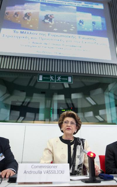 Participation of Androulla Vassiliou, Member of the EC, at the 20th Seminar of Greek Teachers of the Benelux
