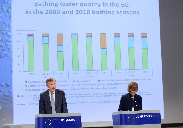 Press conference by Janez Potočnik, Member of the EC, on the Annual Report on the Quality of Bathing Water in the EU