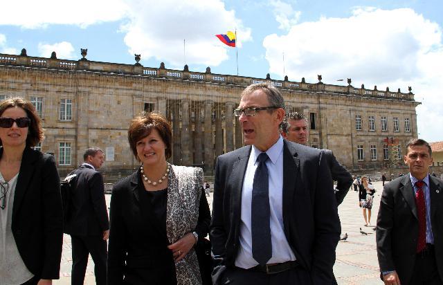 Visite d'Andris Piebalgs, membre de la CE, en Colombie