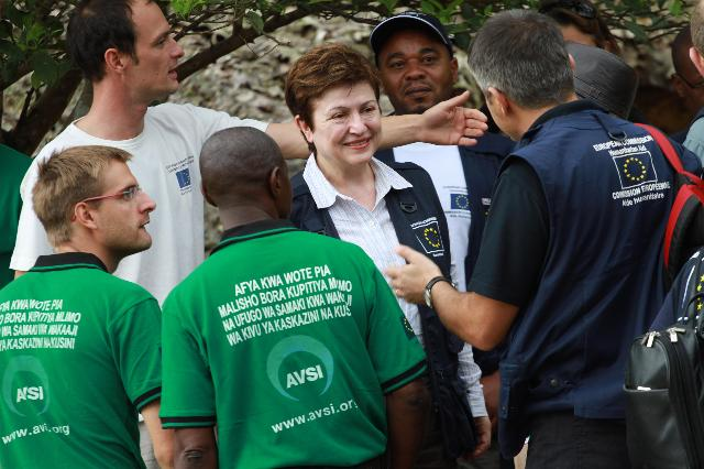 Visit of Kristalina Georgieva, Member of the EC, to the Democratic Republic of the Congo
