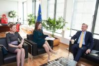 Visit of Vlora Çitaku and Mimoza Kusari-Lila, Kosovan Ministers, to the EC