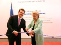 Opening by Viviane Reding and Maroš Šefčovič, Vice-Presidents of the EC, of the Visitors' Centre of the EC