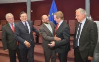 Visite de Martin Schulz, président du PE, et Enda Kenny, Premier ministre irlandais, à la CE