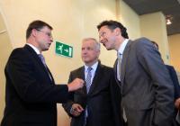 Participation d'Olli Rehn, vice-président de la CE, aux festivités pour célébrer l'élargissement de la zone euro à la Lettonie