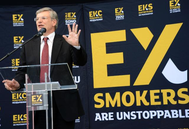 Participation of Tonio Borg, Member of the EC, and Bob Sinclar, French DJ, at the event organised in the framework of the 'Ex-smokers are unstoppable' anti-smoking campaign