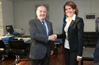 Visit of Yolanda Barcina Angulo, President of the Chartered Community of Navarra, to the EC