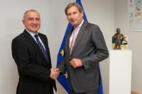 Visite de Lazaros S. Lazarou, membre de la Cour des comptes européenne, à la CE
