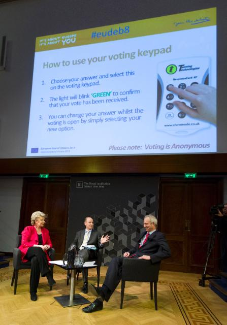 Citizens' Dialogue in London with Viviane Reding