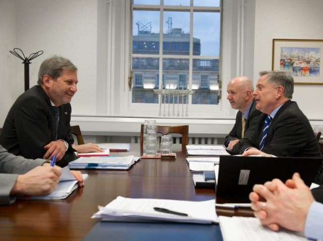 Meeting between Brendan Howlin, Irish Minister for Public Expenditure and Reform, and Johannes Hahn, Member of the EC