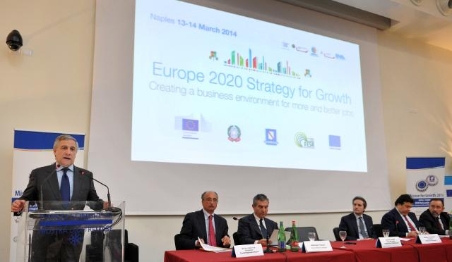 Participation of Antonio Tajani, Vice-President of the EC, at the Europe 2020 Strategy for Growth conference