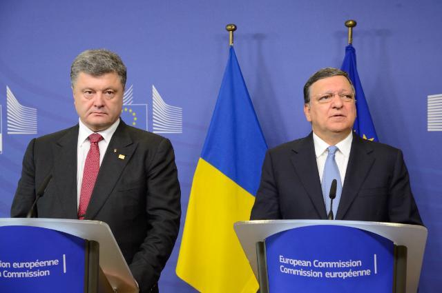 José Manuel Barroso reçoit Petro Porochenko, président de l'Ukraine