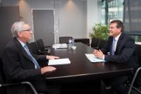 Meeting between Maroš Šefčovič, Vice-President of the EC, and Jean-Claude Juncker, President-elect of the EC