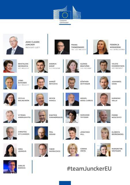 Infographies de la commission Juncker designée