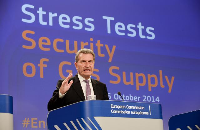 Press conference by Günther Oettinger, Vice-President of the EC, on the Energy Security Stress Test Report