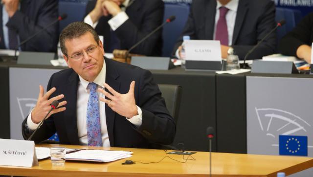 """Illustration of """"Audition de Maroš Šefčovič, vice-président désigné de la CE, au PE"""""""