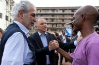 "Illustration of ""Visit of Vytenis Andriukaitis and Christos Stylianides, Members of the EC, to Sierra Leone, Liberia and..."