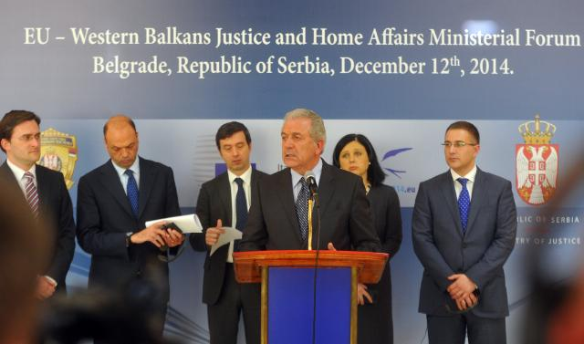 Participation of Dimitris Avramopoulos and Věra Jourová, Members of the EC, at the the EU/Western Balkans Justice and Home Affairs Ministerial Forum, in Belgrade, 12/12/2014