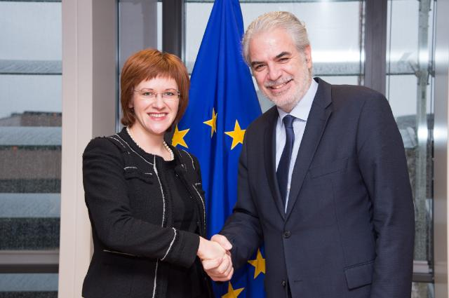 Visit of Zanda Kalniņa-Lukaševica, Chairperson of the European Affairs Committee of the Latvian Parliament and Parliamentary Secretary of the Foreign Ministry, to the EC