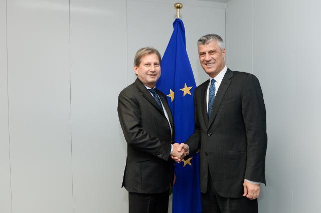 Johannes Hahn reçoit Hashim Thaçi, Premier ministre kosovar