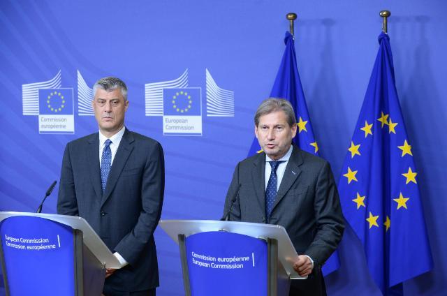 "Illustration of ""Johannes Hahn reçoit Hashim Thaçi, Premier ministre kosovar"""