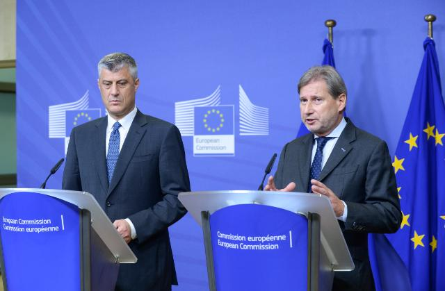Johannes Hahn receives Hashim Thaçi, Kosovan Prime Minister