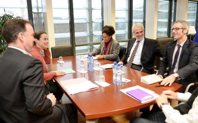 Christos Stylianides reçoit Mike Penrose, directeur général à Action Contre la Faim France