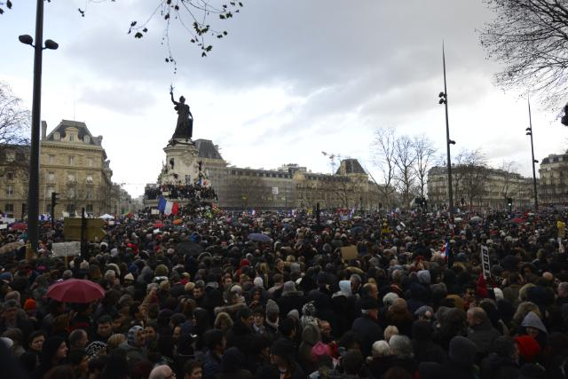 Republican March as a tribute to the victims of the terrorist attack at the headquarters of 'Charlie Hebdo', of the gunfire at Montrouge and of the hostage crisis at Porte de Vincennes, in Paris