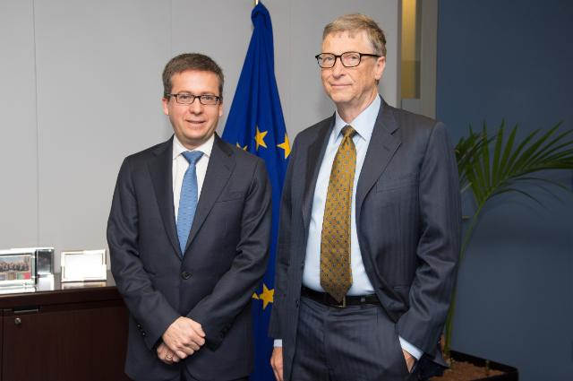 Carlos Moedas reçoit Bill Gates, co-président de la Fondation Bill & Melinda Gates